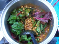 Post image for MOROCCAN SPICED CHICKPEAS &#038; CHARD